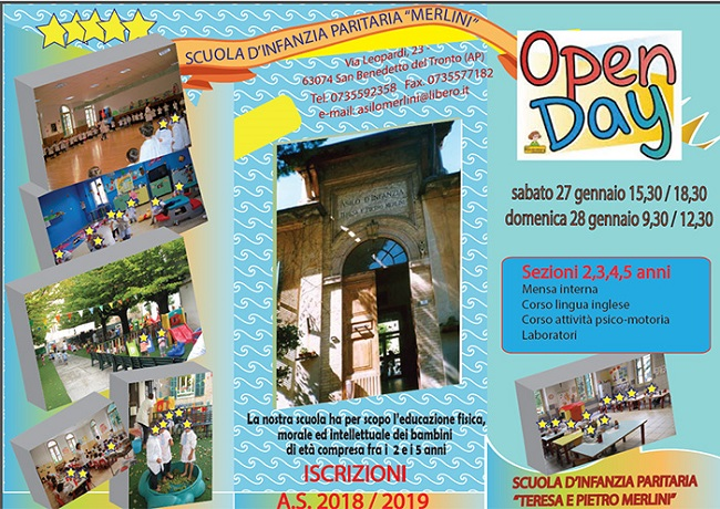 Open Day all'Asilo Merlini