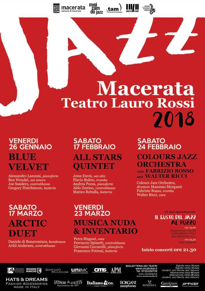 Rassegna Macerata Jazz al Teatro Lauro Rossi