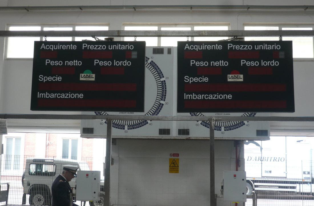 Chiusura dell'asta del Mercato Ittico all'Ingrosso