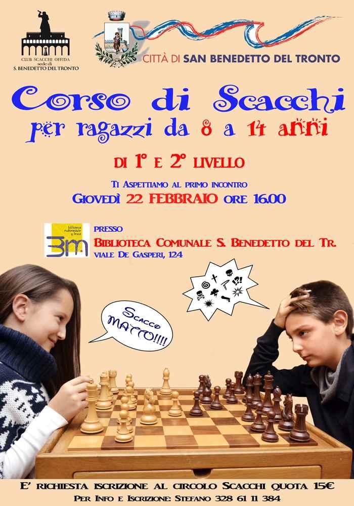 Torna il corso di scacchi a San Benedetto