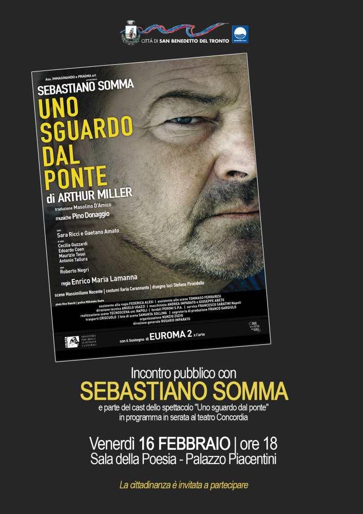 Sebastiano Somma incontra il pubblico