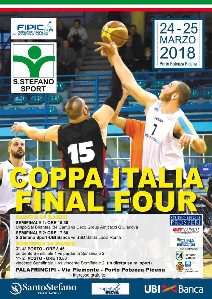 Basket in carrozzina, Coppa Italia: Amicacci supera Roma e sale sul podio, Cantù trionfa
