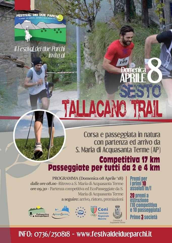Torna l'appuntamento con il Tallacano Trail