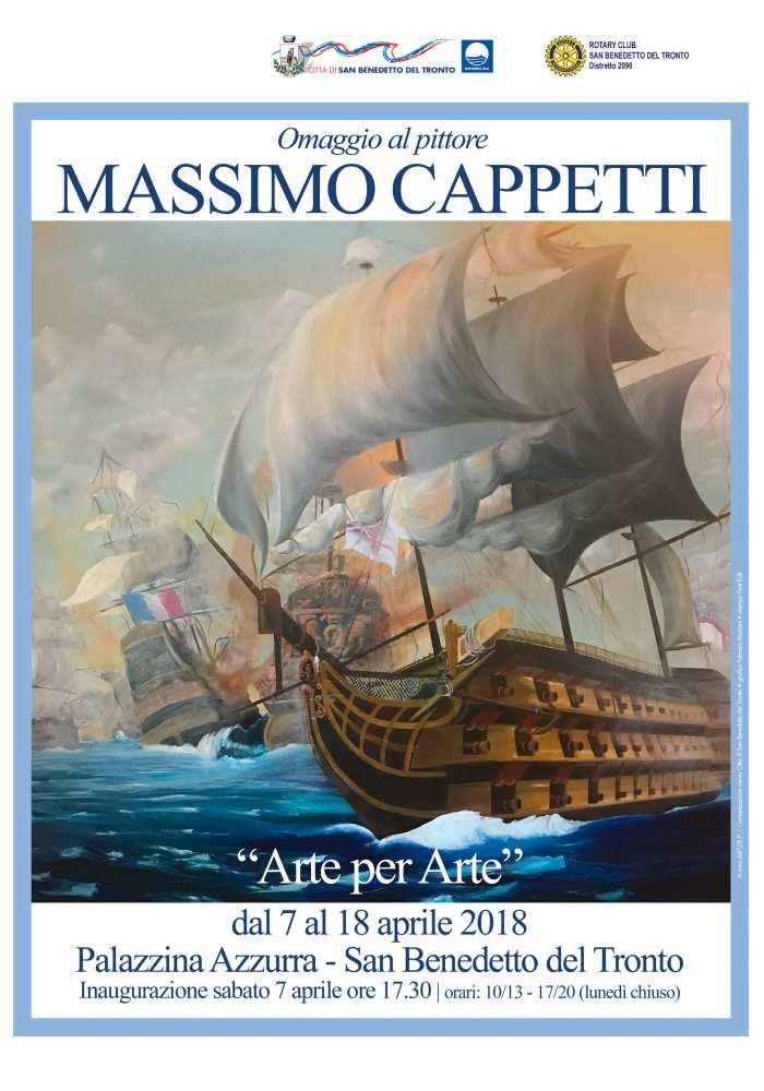 Arte per arte, omaggio a Massimo Cappetti alla Palazzina Azzurra