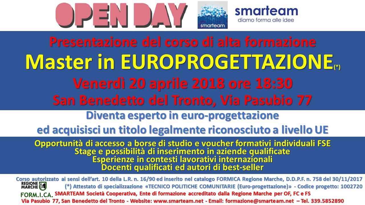 Master in Europrogettazione con Smarteam