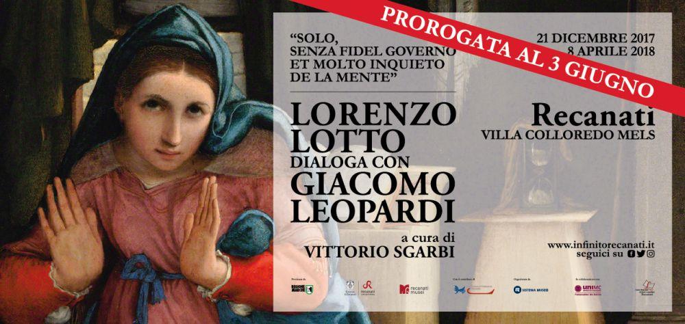 La mostra su Lotto e Leopardi appassiona 11mila visitatori: prorogafino a giugno
