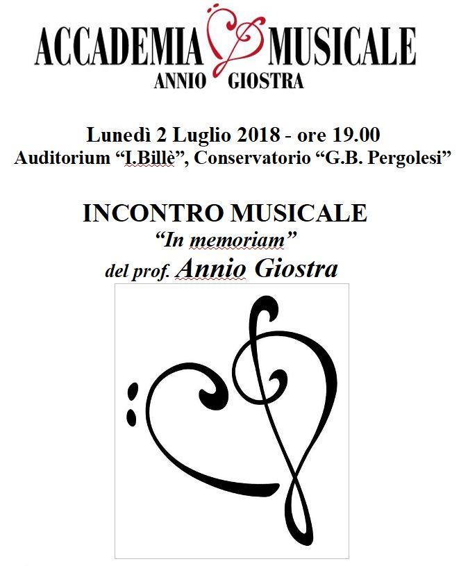 """Saggio finale""""in memoriam"""" dedicato adAnnio Giostra"""