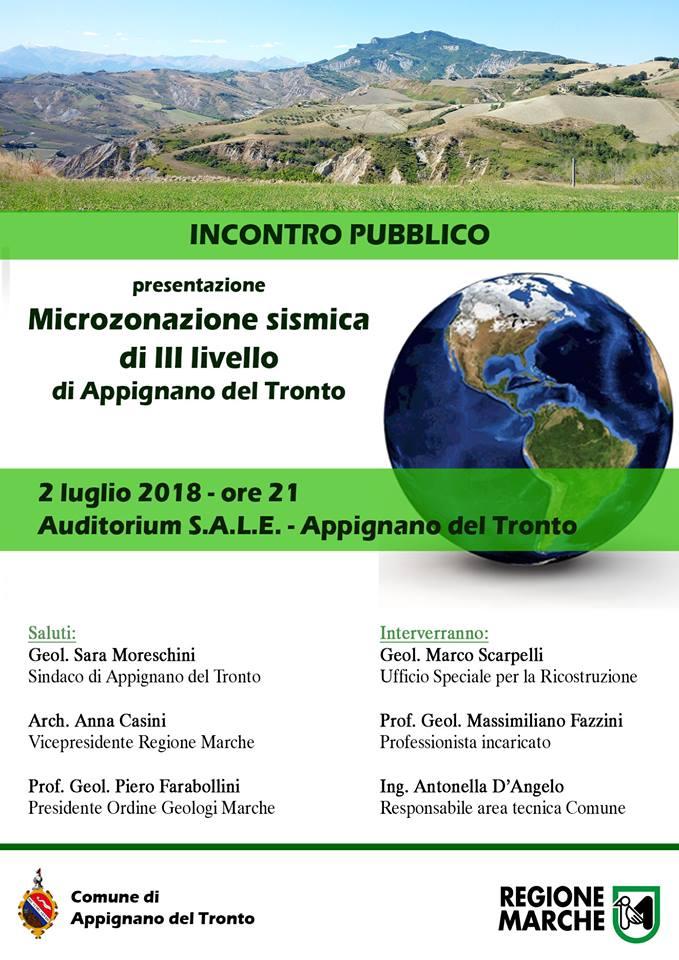 Presentazione della microzonazione sismica di terzo livello ad Appignano