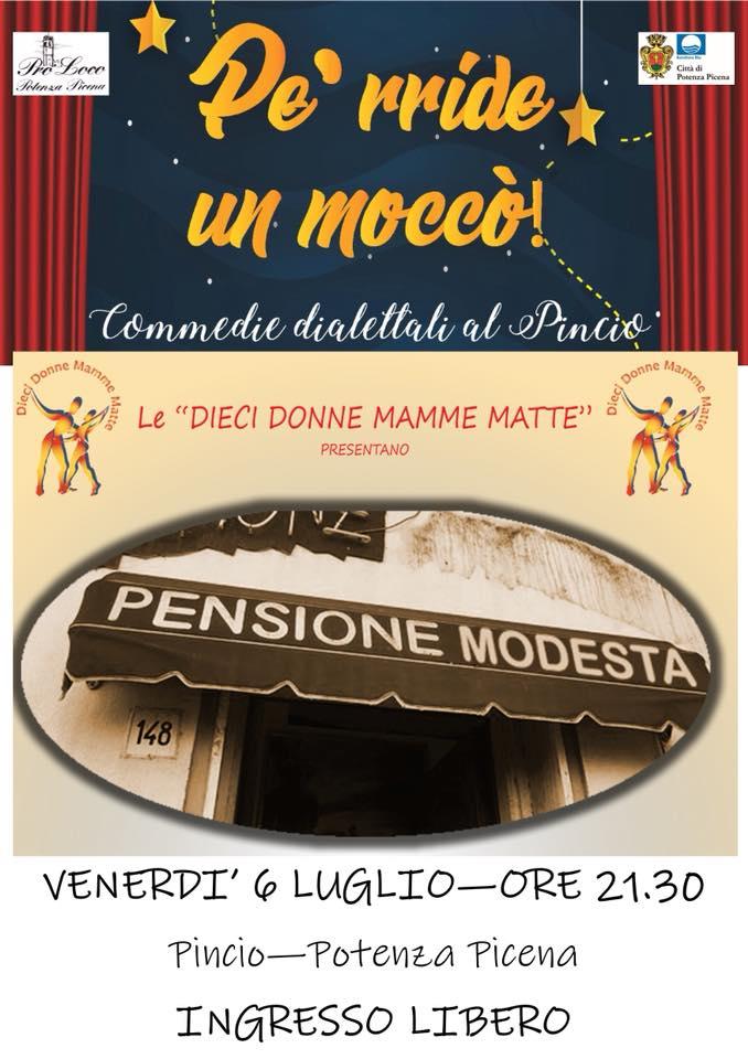 """Dieci Donne Mamme Matte, """"Alla pensione Modesta"""" a Potenza Picena"""