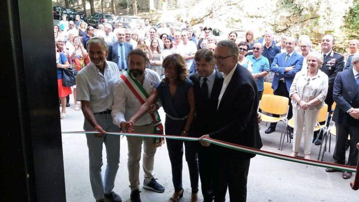 Inaugurazione dello stabilimento termale di Acquasanta