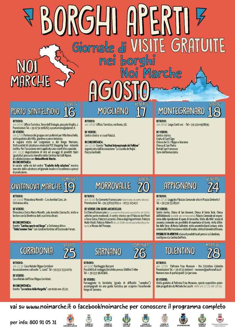 Borghi Aperti, appuntamento il 16 agosto a Porto Sant'Elpidio