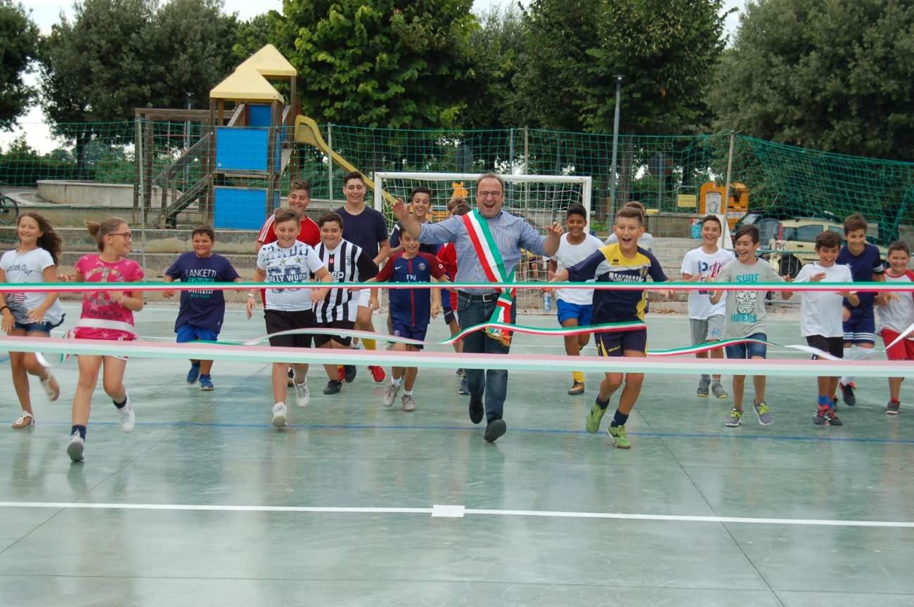 Inaugurazione del nuovo campetto polivalente a Massignano