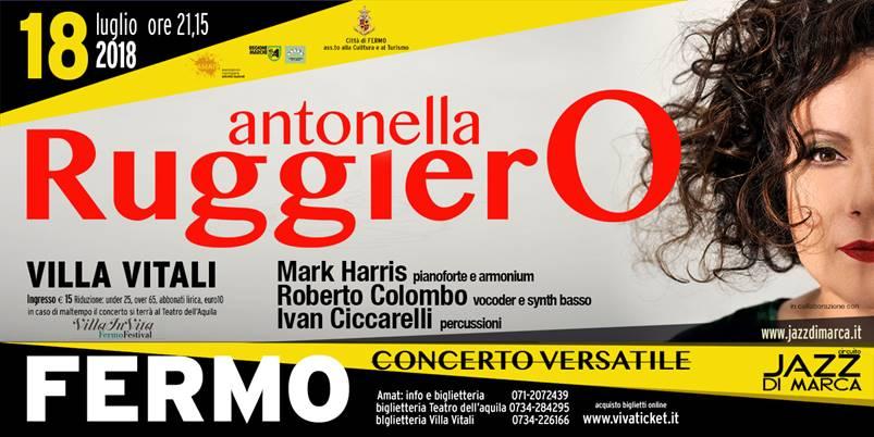 "Jazz di Marca con Antonella Ruggieroe il suo ""Concerto Versatile"""