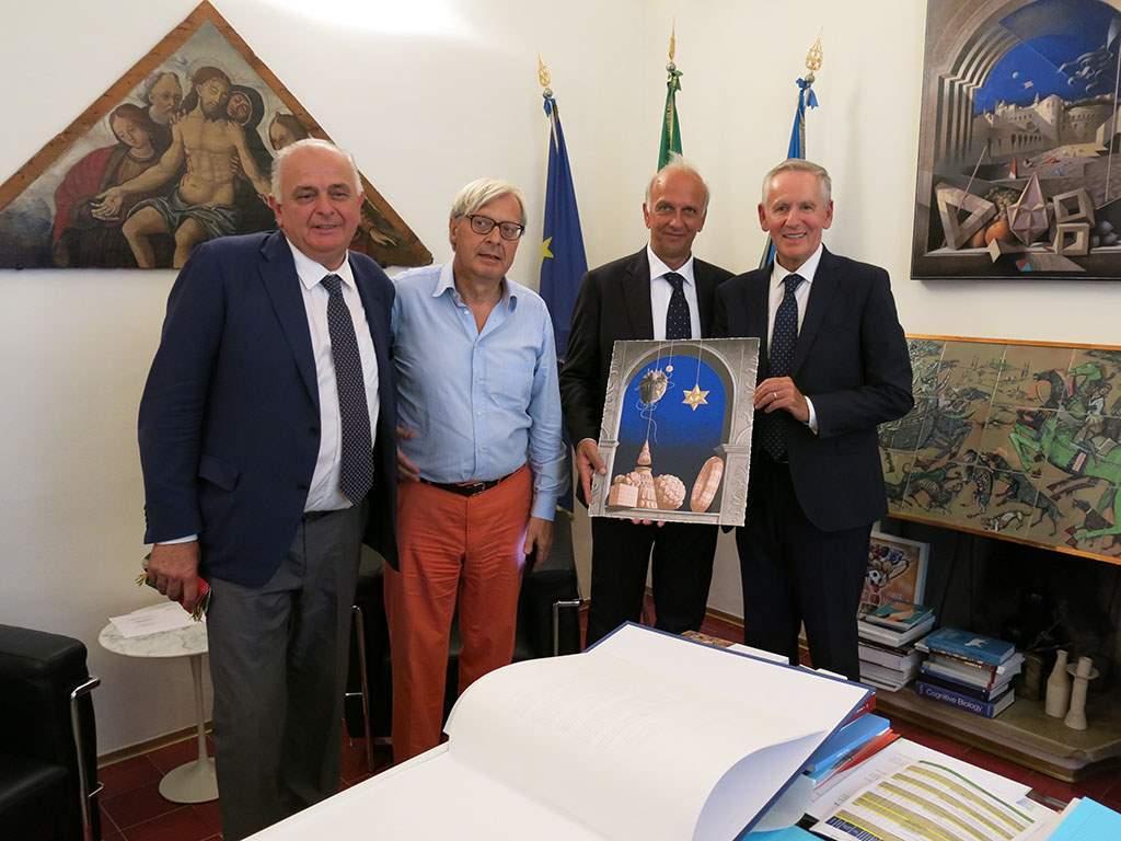 UniUrb, l'omaggio dell'Ateneo al Ministro Bussetti