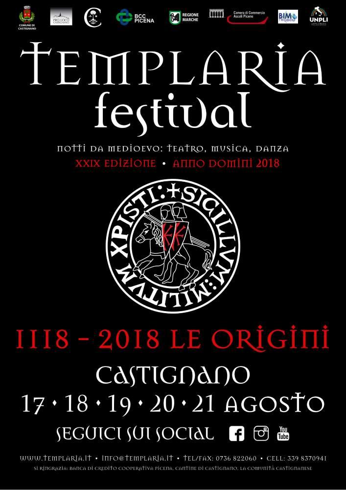 Oltre 150 artisti per le Notti da Medioevo di Templaria Festival 2018