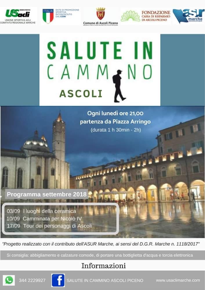 Salute in cammino Ascoli prosegue anche a Settembre
