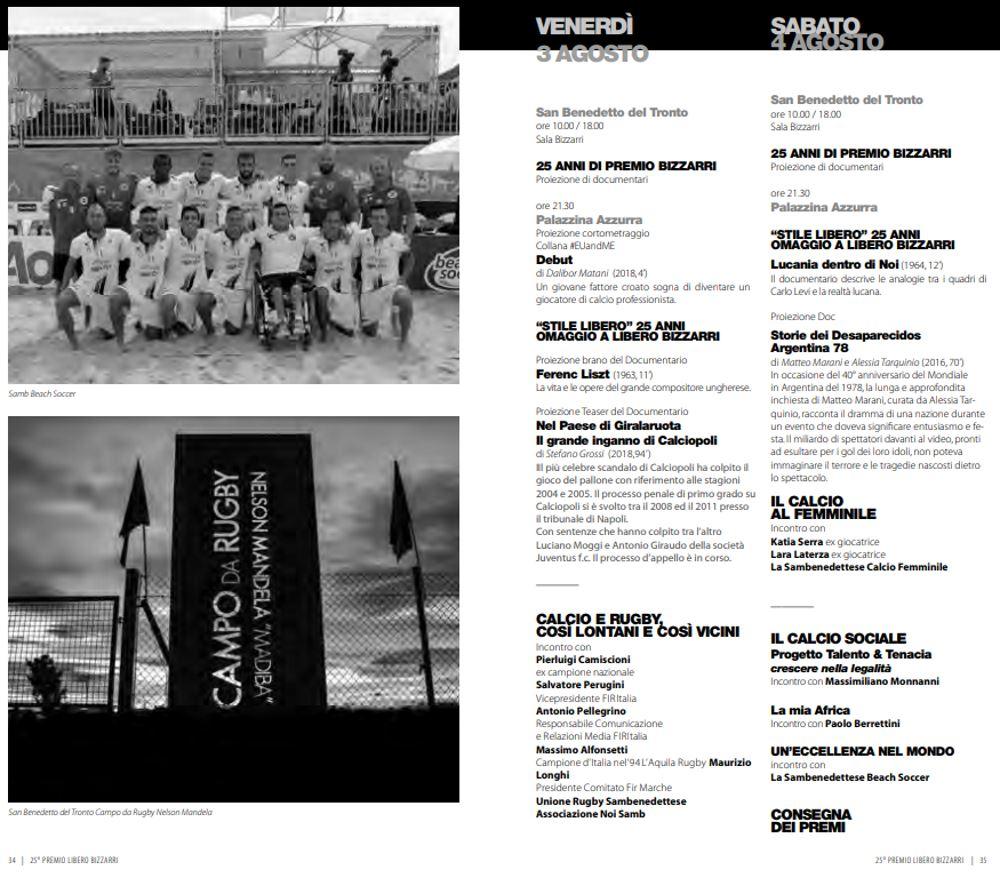 25° Premio Libero Bizzarri: il programma del 3 e 4 agosto