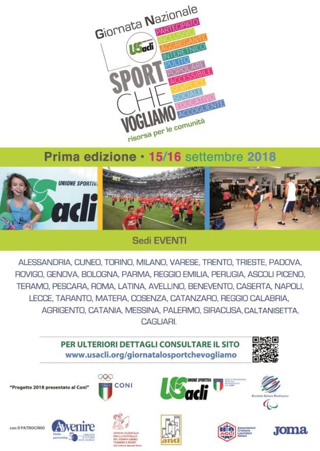 Giornata nazionale Lo sport che vogliamo a Venarotta e Palmiano