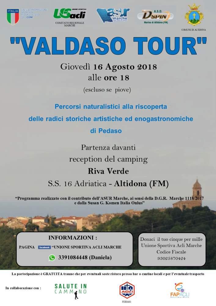 """Giovedì 16 agosto 5° appuntamento con """"Valdaso tour"""""""