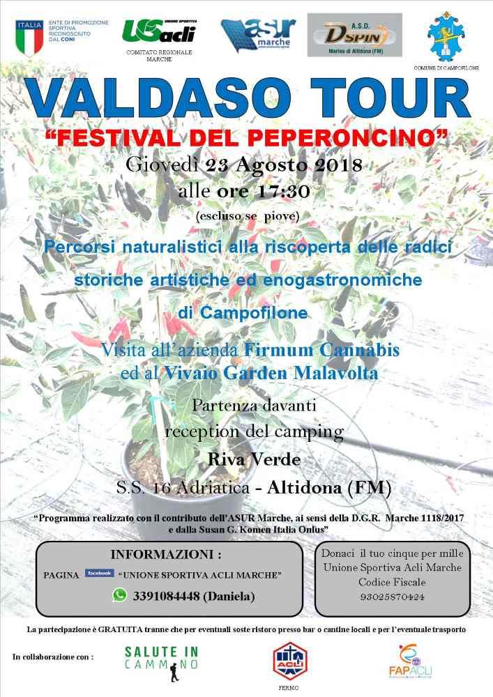"""Con """"Valdaso tour"""" al """"Festival del peperoncino"""""""