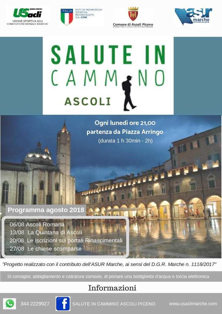"""Continua """"Salute in cammino Ascoli"""""""