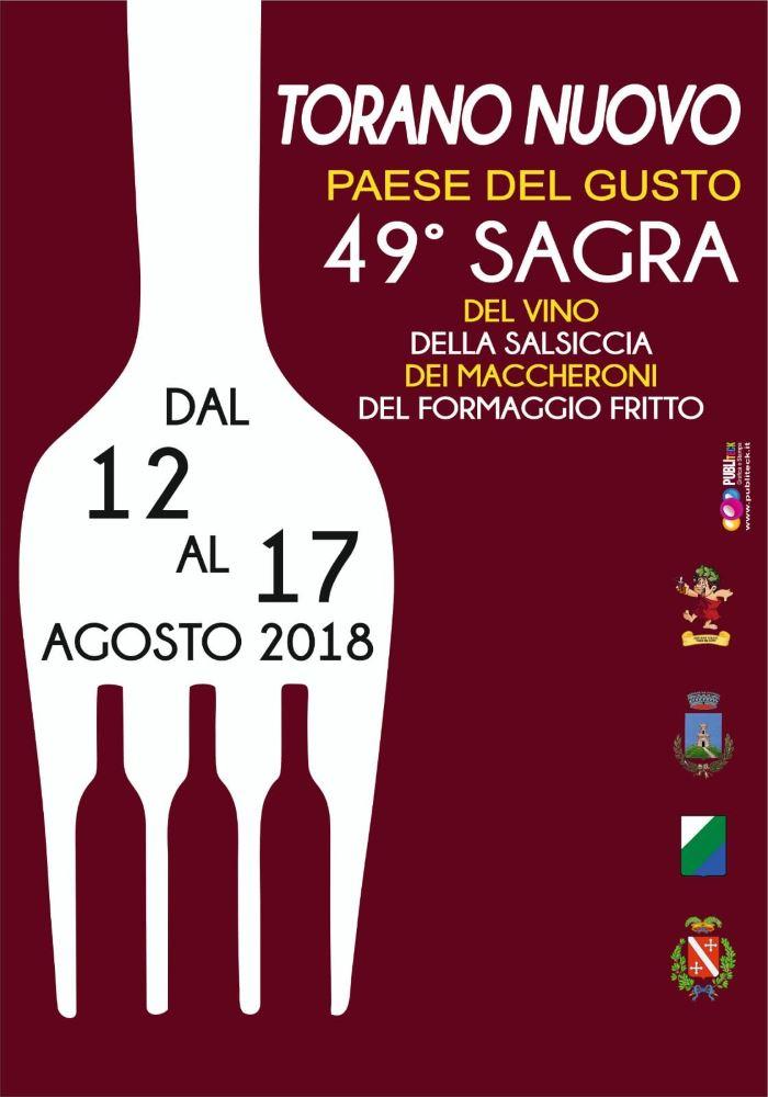 Sagra del vino, della salsiccia, dei maccheroni e del formaggio fritto a Torano Nuovo