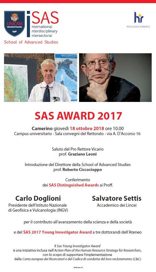 UniCam ospita i Professori Carlo Doglioni e Savatore Settis