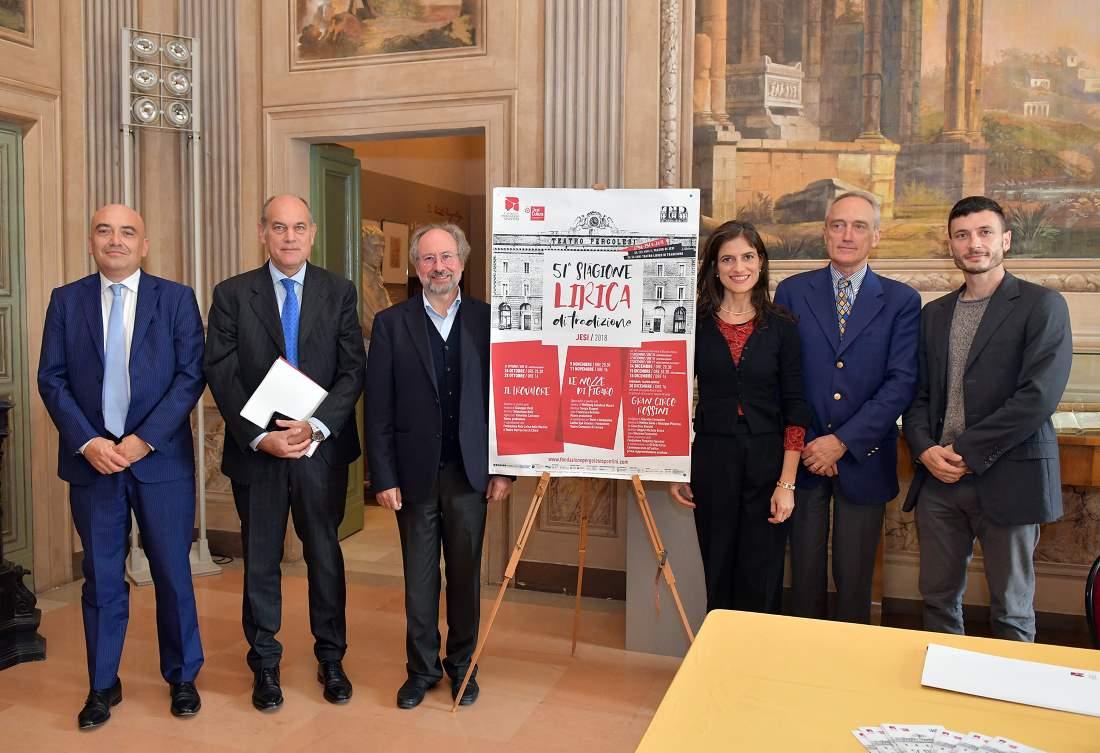 Presentata la 51ma Stagione Lirica di Tradizione 2018 del Teatro Pergolesi di Jesi