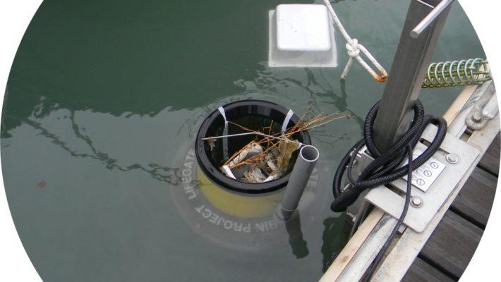 Installato al Cns il dispositivo Seabin che raccoglierà oltre mezza tonnellata l'anno di rifiuti galleggianti