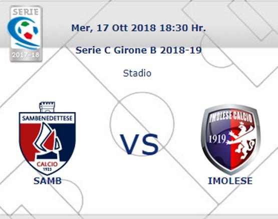 Samb – Imolese, arbitra De Santis di Lecce