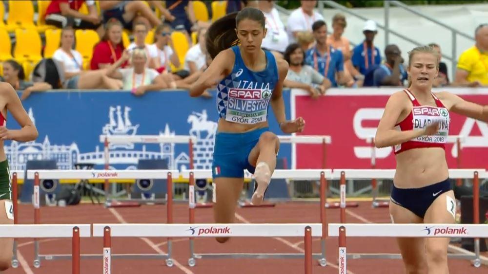 Emma Silvestri in gara alle Olimpiadi giovanili di Buenos Aires