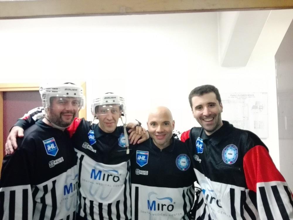 Paride Travaglini unico arbitro del centro Italia di hockey su ghiaccio