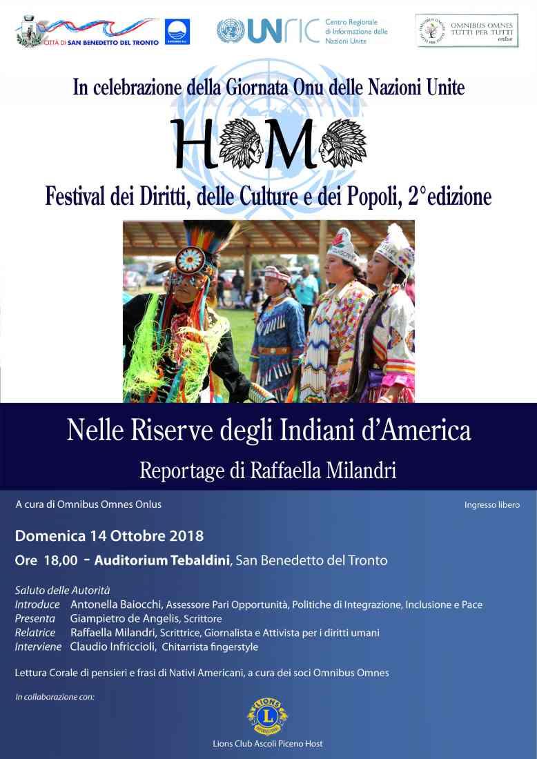 I Nativi Americani sbarcano in Riviera con il Festival Homo della Omnibus Omnes