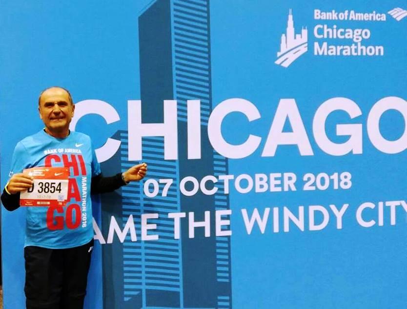 Il maratoneta record Luigi Vesperini ha fatto seicento