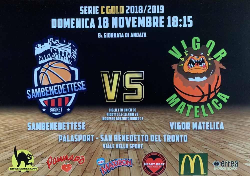 Samb Basket – Vigor Matelica domenica al PalaSpeca