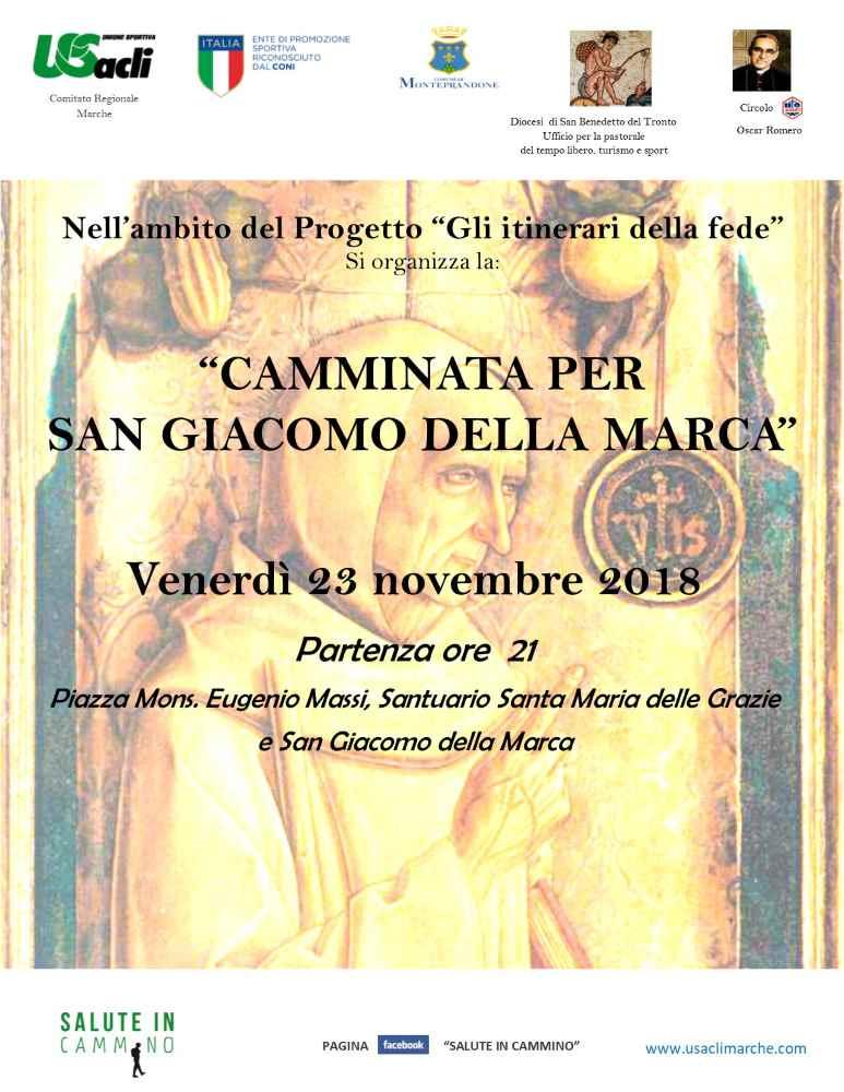 """Torna la """"Camminata per San Giacomo della Marca"""""""