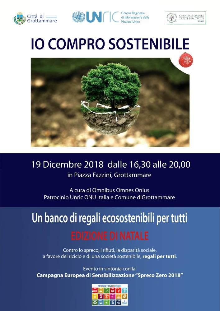 """Torna il banco regali di """"Io Compro Sostenibile"""" a Grottammare"""
