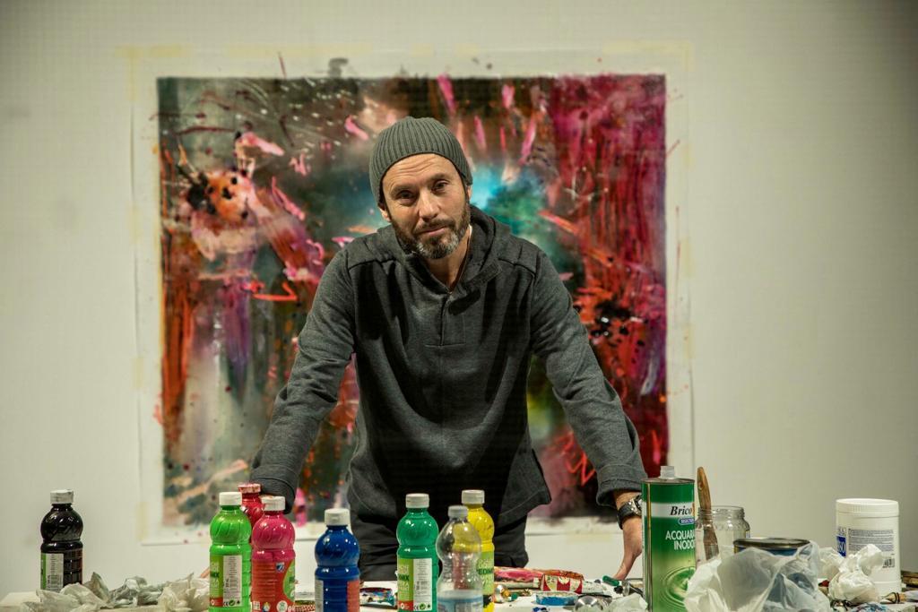 Paolo Consorti pittura live al Macro di Roma