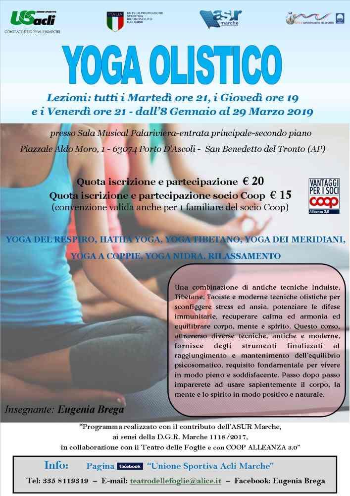 Corso di Yoga olistico al PalaRiviera
