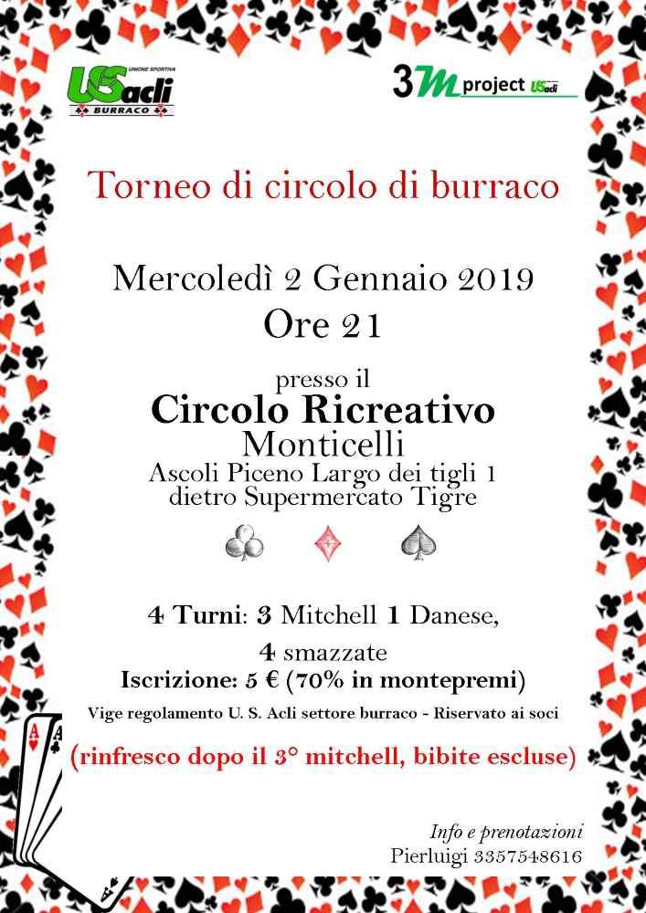 Parte dal Circolo di Monticelli il Burraco 2019 dell'Us Acli
