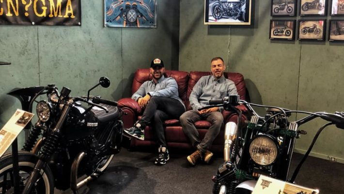 "Due giovani sambenedettesi, Stefano e Marino del ""Bombay Street Garage"", al Motor Bike Expo"