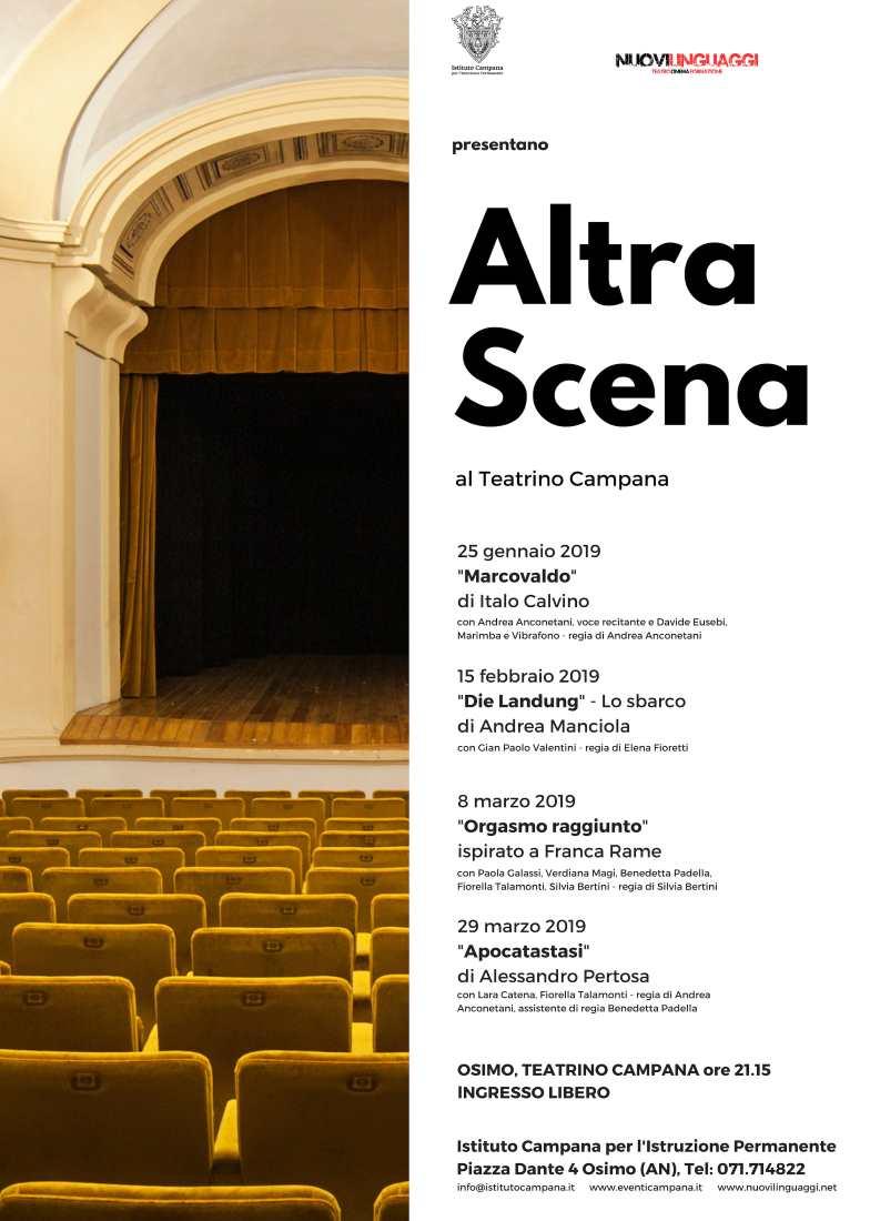 """Prosegue al Teatrino Campana la rassegna teatrale """"Altra Scena"""""""