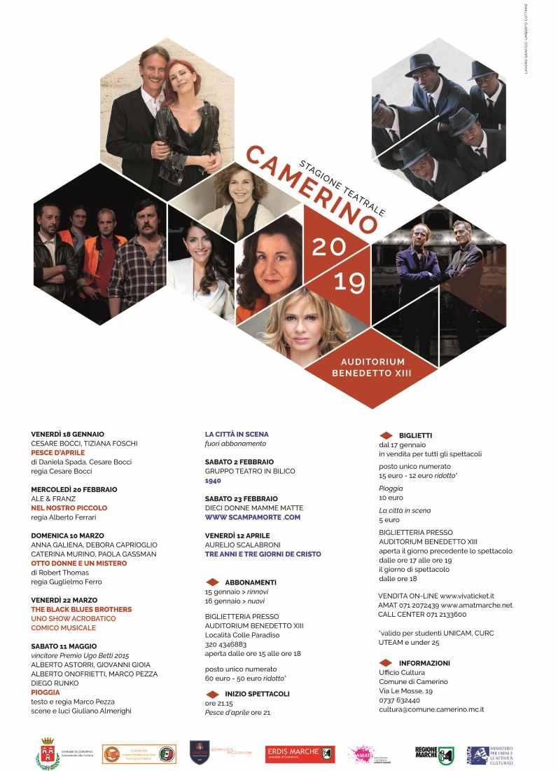 Al via la nuova stagione teatrale di Camerino