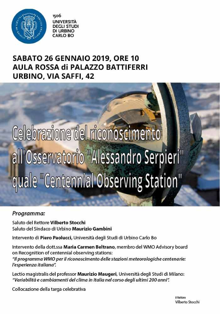 """L'Osservatorio """"Serpieri"""" nella Storia della Meteorologia"""