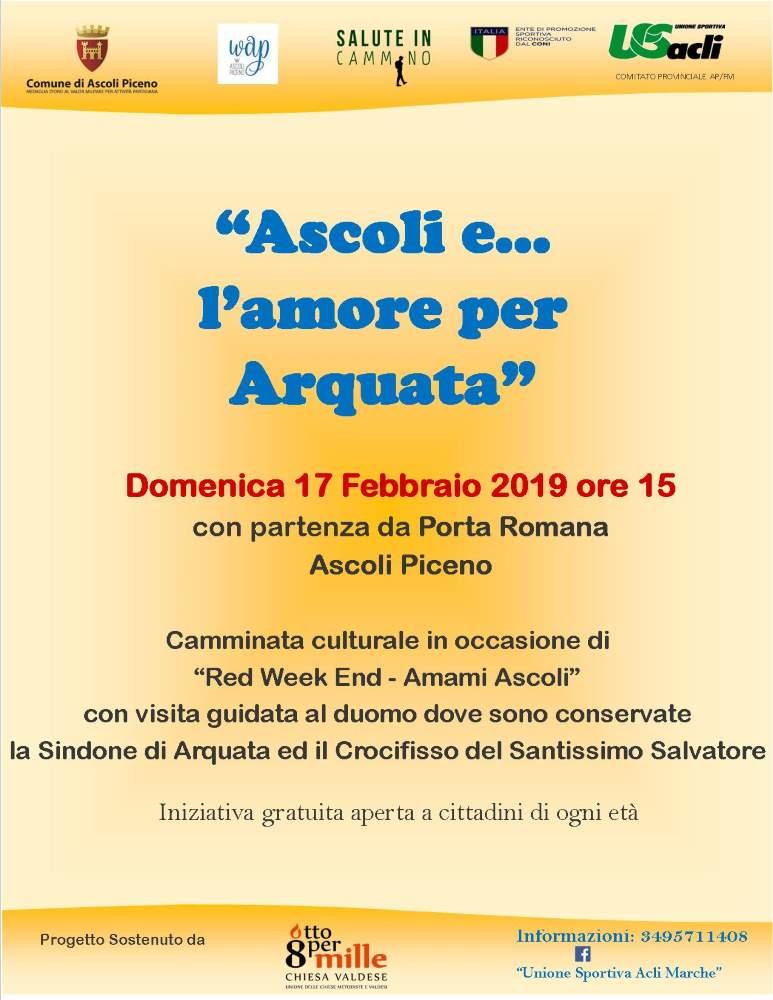 """Il 17 febbraio in programma """"Ascoli e… l'amore per Arquata"""""""