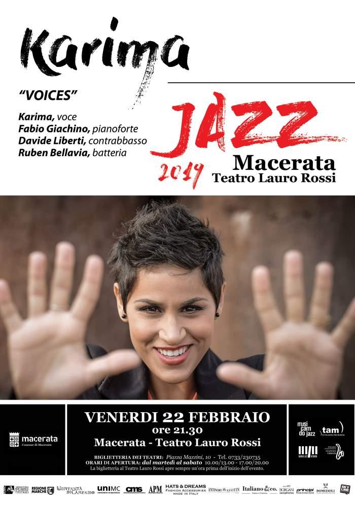 Il grande jazz con Karima al Teatro Lauro Rossi