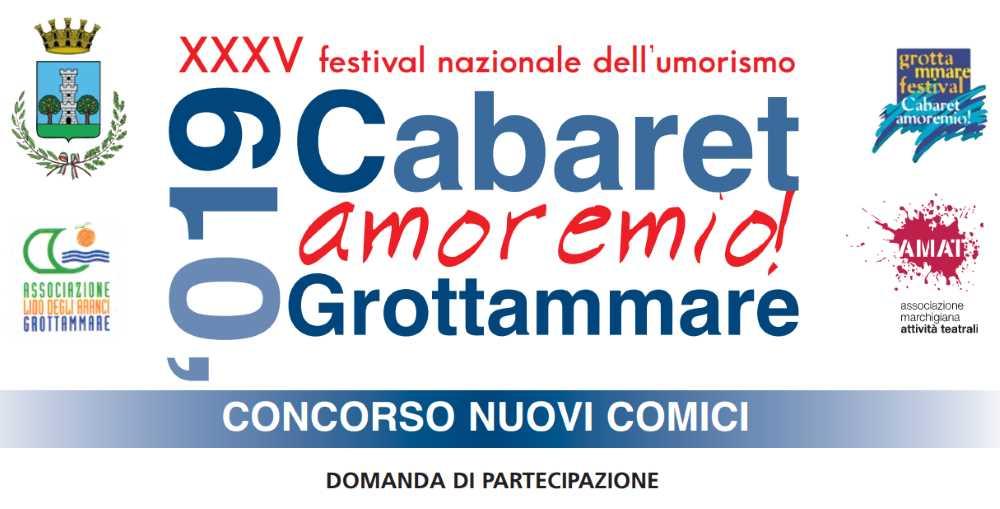 35° Cabaret, amoremio!  Nuovi comici, al vincitore 5 date con Battista