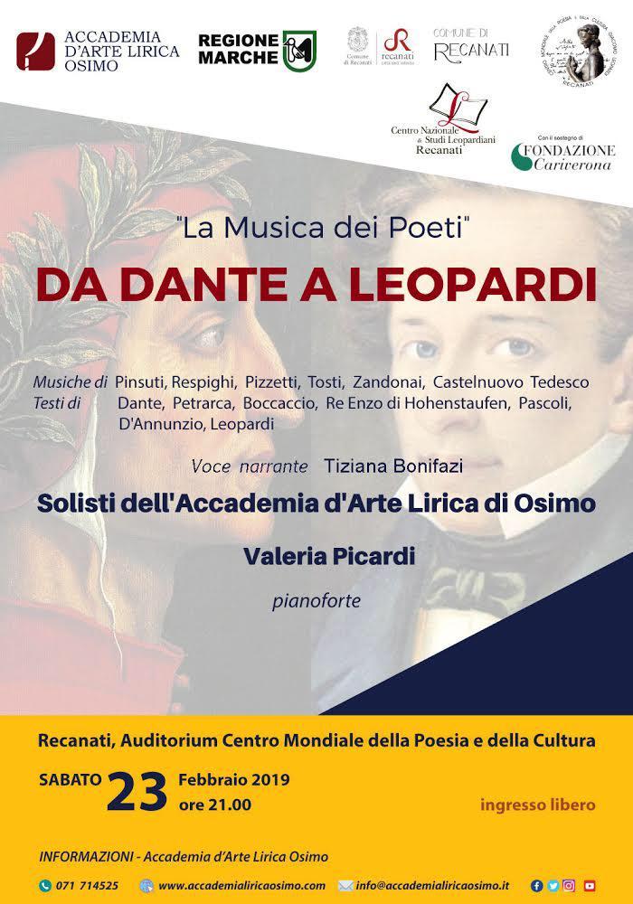 Da Dante a Leopardi: musiche per i duecento anni de L'Infinito