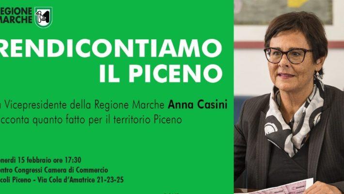 Rendicontiamo il Piceno, la vicepresidente Casini racconta quanto fatto per il territorio