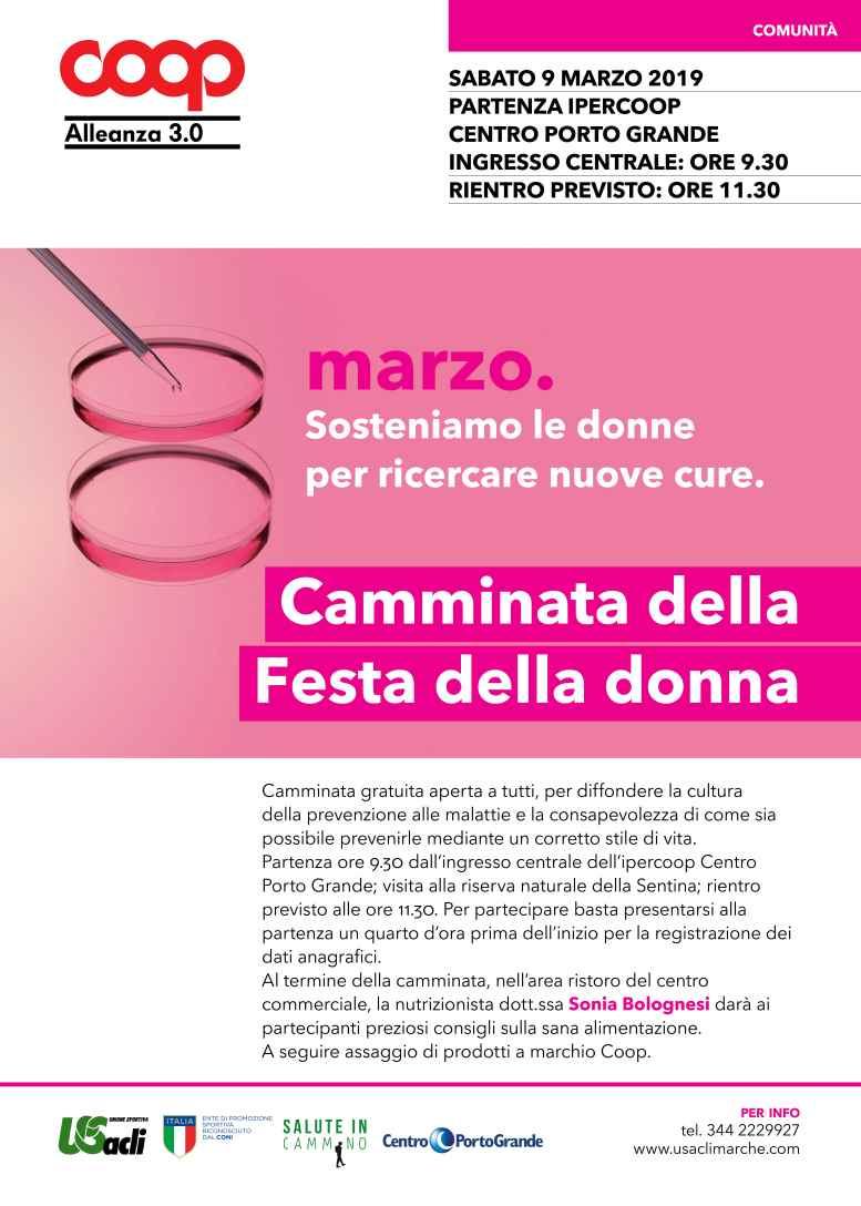 Il 9 marzo la salute della donna in primo piano:si promuovono stili di vita corretti